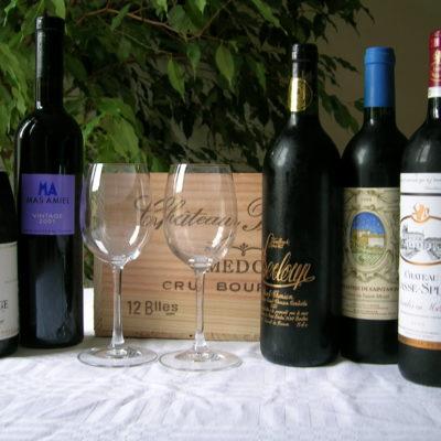 bouteilles du cadeau oenologie